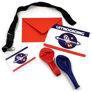 Feestpakket Spacecontrol incl.uitnodigingen ruimtefeestje